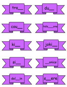 gh, ph, ng, ck Digraph Word Sort