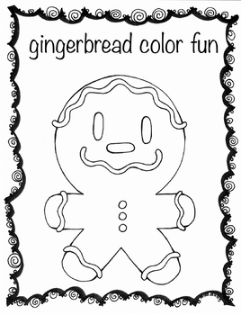 gingerbread color fun for Christmas