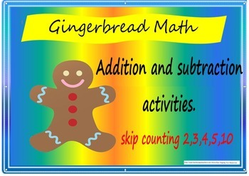 gingerbread maths skip counting