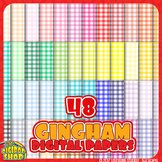 "gingham background in 48 colors// digital paper 12""x12"""