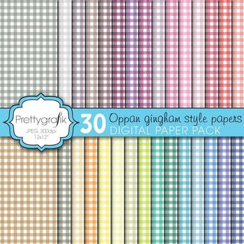 gingham digital paper, commercial use, scrapbook papers, background - PS602