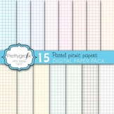 gingham picnic pattern digital paper, commercial use, scrapbook papers - PS603