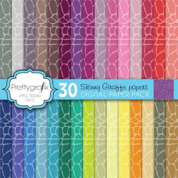 giraffe animal print digital paper, commercial use, scrapbook papers - PS596