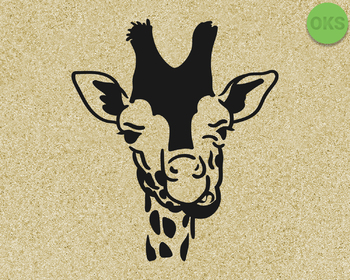 giraffe face SVG cut files, DXF, vector EPS cutting file instant download