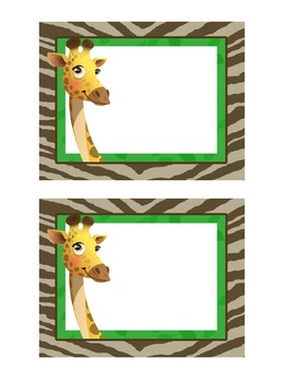 giraffe theme bag tags