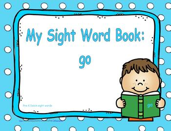 """Sight Word Practice Book and Emergent Reader-""""go"""""""