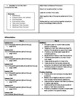 Go Math Grade 1 Chapter 3 Curriculum Map