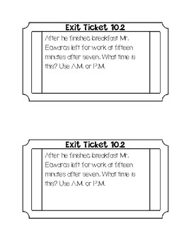 go math chapter 10 exit tickets