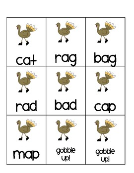 gobble up short vowel game