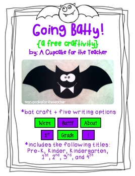 Going Batty {Free Craftivity}