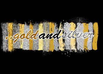 gold and silver clipart watercolor brush clip art