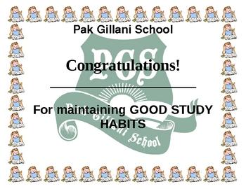 good study habit award for student