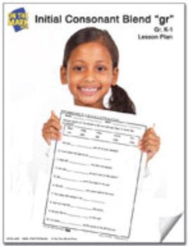 gr Initial Consonant Blend Lesson Plan K-1