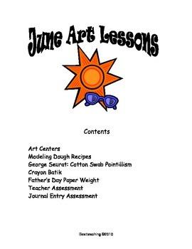 grade 1 Art Lessons for June