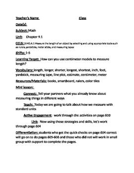 grade 2 Go Math Chapter 9 lesson plans