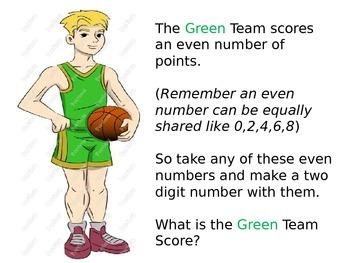 2nd Grade  Chapter 1 Math Performance task Basketball Games