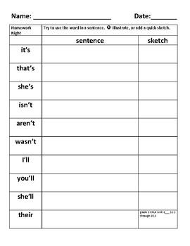 grade 2 ckla spelling homework unit 2 lesson 11