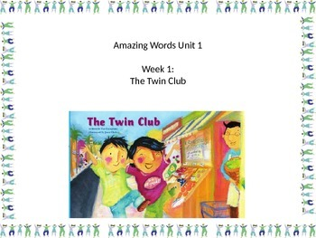 Gr 2 Unit 1 Amazing Words Reading Street with PICTURE VISUAL