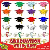 graduation clipart// grad cap, diploma .png in popular sch