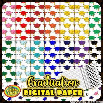 """graduation digital paper// grad cap pattern 12""""x12"""" .jpg,"""
