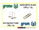 gram/gramo meas 1-way blue/verde