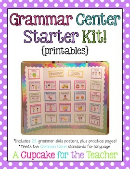 Grammar Center Starter Kit! {printables}