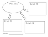 graphic organizer for main ideas/supporting detail