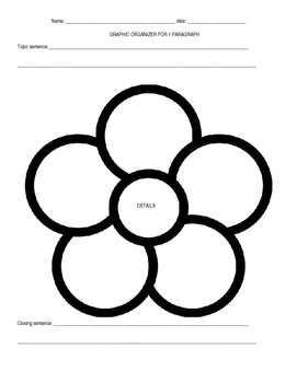 graphic organizer for paragraph