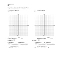 graphing quadratic equations in standard form
