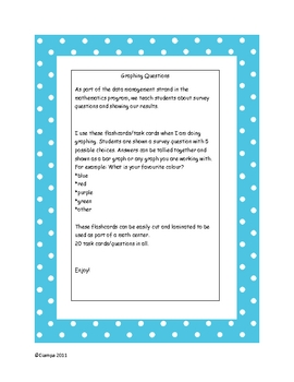graphing task cards for math warm-up
