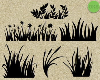grass SVG cut files, DXF, vector EPS cutting file instant download for cricut