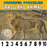 Grassland Animals Number Strip Puzzles   Number Order Sequ