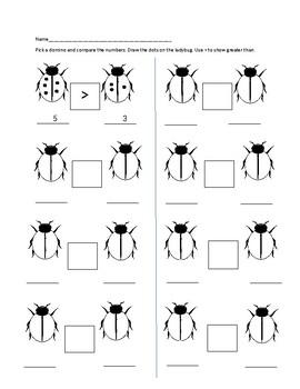 greater than ladybug math