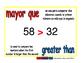 greater than/mayor que prim 1-way blue/rojo