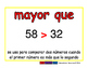 greater than/mayor que prim 2-way blue/rojo