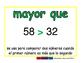 greater than/mayor que prim 2-way blue/verde