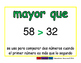 greater than/mayor que prim 2-way blue/verde