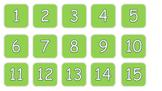 green calendar days 1-31