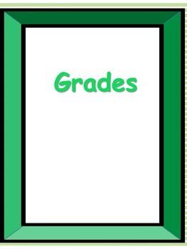 green teacher binder dividers