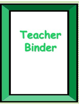green teacher binder dividers