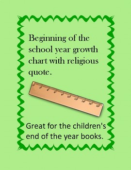 growth chart with religious quote