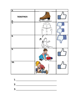 gustar + infinitive QUIZ (personalize with student pics!)