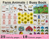 Farm Animals Busy Book | Learning Binder | Toddlers and Pr