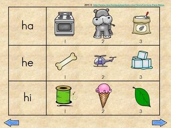 Ha He Hi Ho Hu Silabas Iniciales By Lectura Para Ninos Tpt