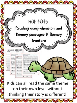 habitats fluency and comprehension leveled passages
