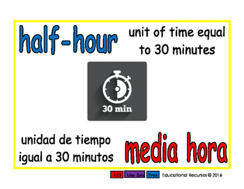 half-hour/media hora meas 1-way blue/rojo