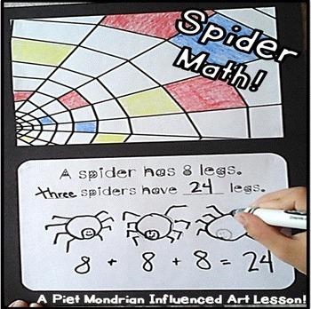 Spider Math & Art for First Grade, Second Grade