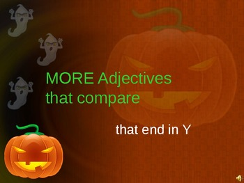 halloween adjectives that compare PART TWO