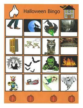 halloween auditory bingo