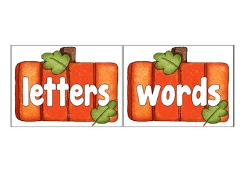 halloween theme letter or word sort freebie